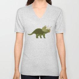 Triceratops Unisex V-Neck
