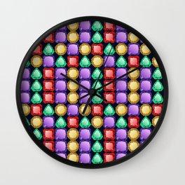 Colorful diamonds Wall Clock