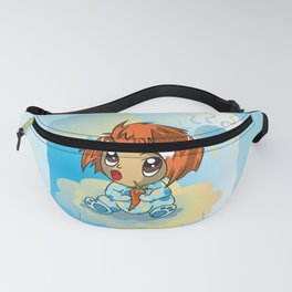 Cute ginger haired baby with a carrot Fanny Pack