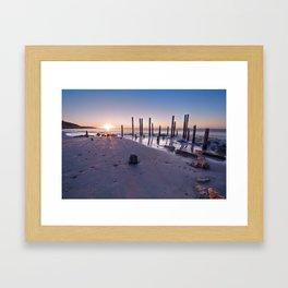 Port Willunga Sunset Framed Art Print