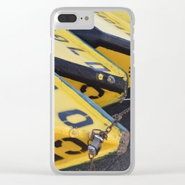Yellow Boats Clear iPhone Case
