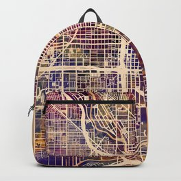 Chicago City Street Map Backpack