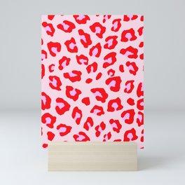 Leopard Print - Red And Pink Mini Art Print