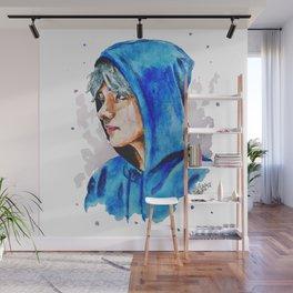 Taehyung watercolor BTS Wall Mural