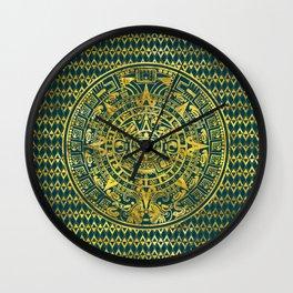 Gold  Aztec Inca Mayan Calendar Wall Clock