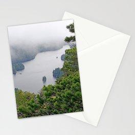 MOUNTAIN LAKE ON A MISTY DAY Stationery Cards