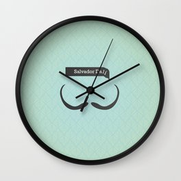 Salvador Dali (Famous mustaches and beards) Wall Clock