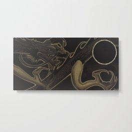 the Eclipse Dragon Metal Print