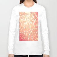 peach Long Sleeve T-shirts featuring Peach by WhimsyRomance&Fun