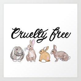 Cruelty Free - Makeup Rabbits Art Print