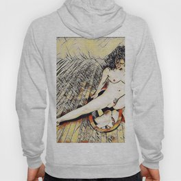 6078s-KD Mirror Reflections Erotic Art in the style of Wassily Kandinsky Hoody