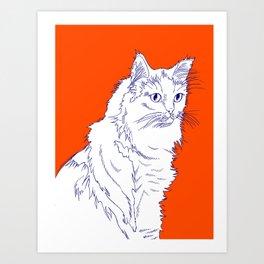Siv Orange Art Print