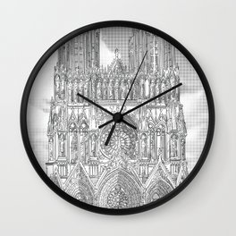 Reims - Cathédrale Notre-Dame Wall Clock