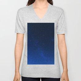 Blue Night Sky (Color) Unisex V-Neck