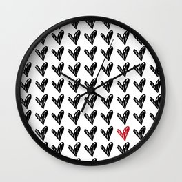 CUTE HEARTS PATTERN II Wall Clock