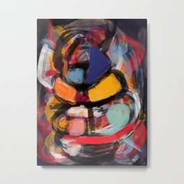 Abstract art expressionist Metal Print