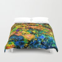 chandelier Duvet Covers featuring Chandelier by Peta Herbert
