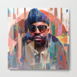 Black Thought of The Roots Metal Print