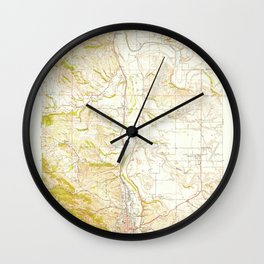 Paso Robles, CA from 1948 Vintage Map - High Quality Wall Clock