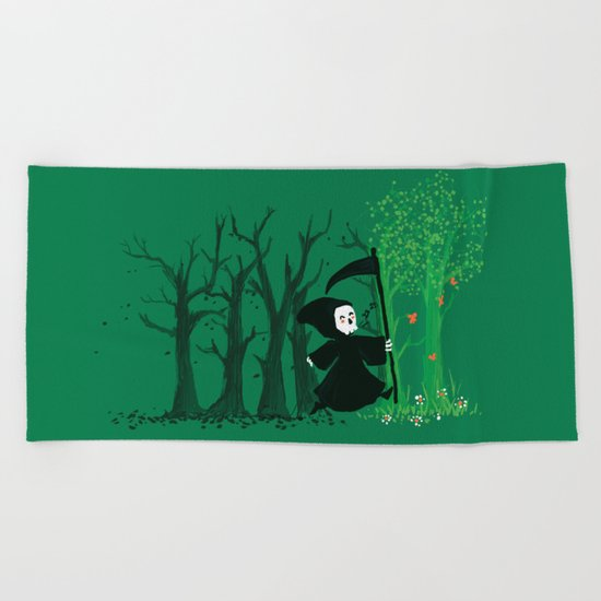 The hills WERE alive Beach Towel