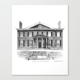 Georgian Style, The Grange - Architectural Styles of Toronto Houses Canvas Print