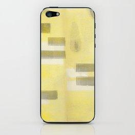 Stasis Gray & Gold 1 iPhone Skin
