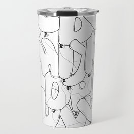 Balloon party letters Travel Mug