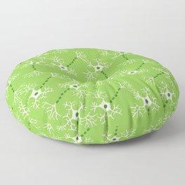 Green Neurons Floor Pillow