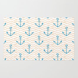 Anchors and waves Rug