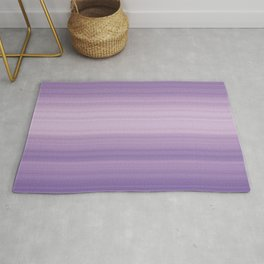 Pastel Ultra Violet Gradient Stripes Trendy Color of the year 2018 Rug