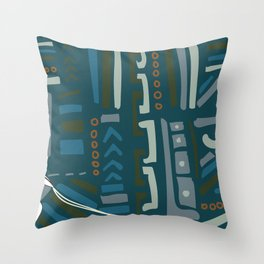 Oby rupestre Throw Pillow