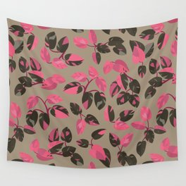 Philodendron Pink Princess Rare Tropical Houseplant Pattern Wall Tapestry