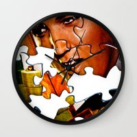 gentleman Wall Clocks featuring Gentleman by Rick Staggs
