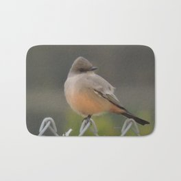 Say's Phoebe at Dusk Bath Mat