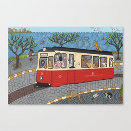 Tramway Istanbul Canvas Print