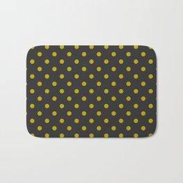 Black and Gold Polka Dots Bath Mat