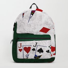 Poker Hand Two Pair Jack Four Nine Backpack