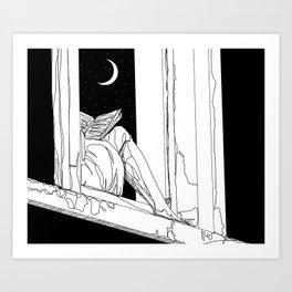 Something's on my mind Art Print