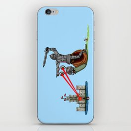 The Knight and the Snail - Random edition iPhone Skin