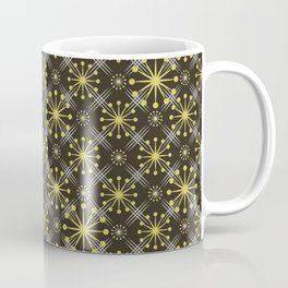 Starburst and Lines Mid Century Earth Colors Coffee Mug