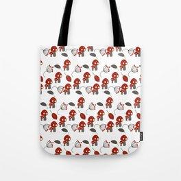 Red Mushrooms Woodland Whimisical Tote Bag
