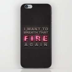 Breathe That Fire iPhone & iPod Skin