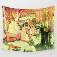 carousel Wall Tapestries featuring Carousel by elle moss