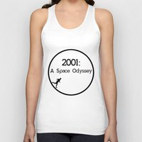 2001 a space odyssey Tank Tops featuring 2001: A Space Odyssey by artsch.