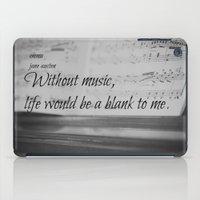 jane austen iPad Cases featuring Music Jane Austen by KimberosePhotography