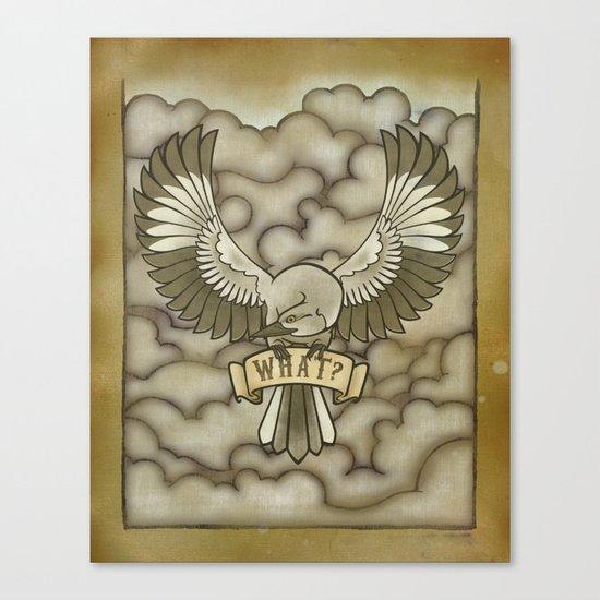 Mockingbird tattoo print Canvas Print