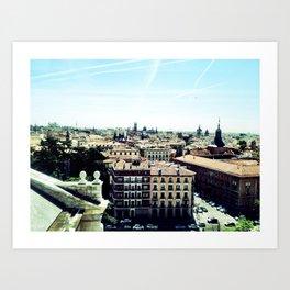 madrid rooftop view Art Print