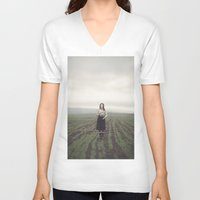 surrealism V-neck T-shirts featuring surrealism by imperfectionist
