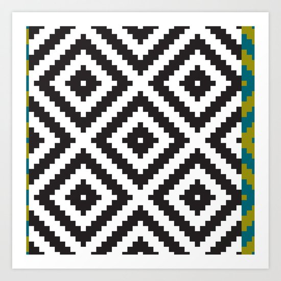 IKEA LAPPLJUNG RUTA Rug Pattern Art Print