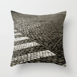 Vintage Poetic City Throw Pillow